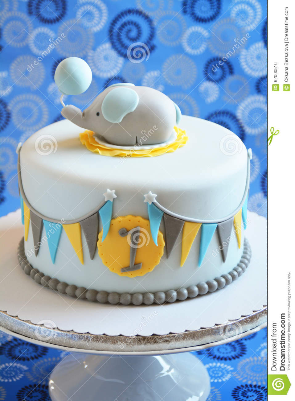 Cute Birthday Cake For A Child Stock Photo