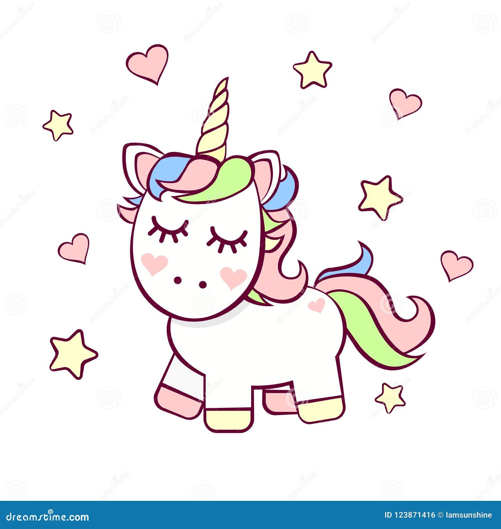 Cute Birthday Invitation With Unicorn Stock Vector Illustration Of