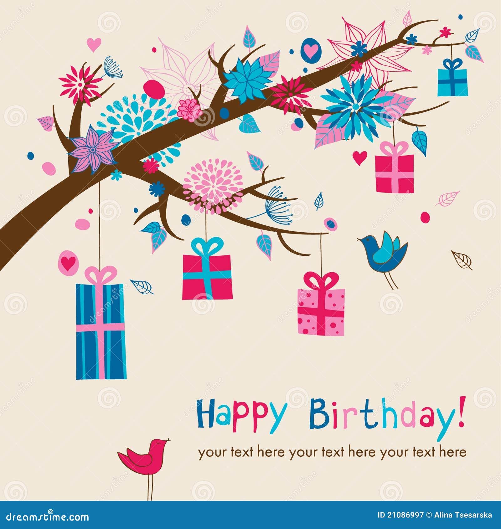 Cute birthdays card stock vector illustration of garden 21086997 cute birthday s card m4hsunfo