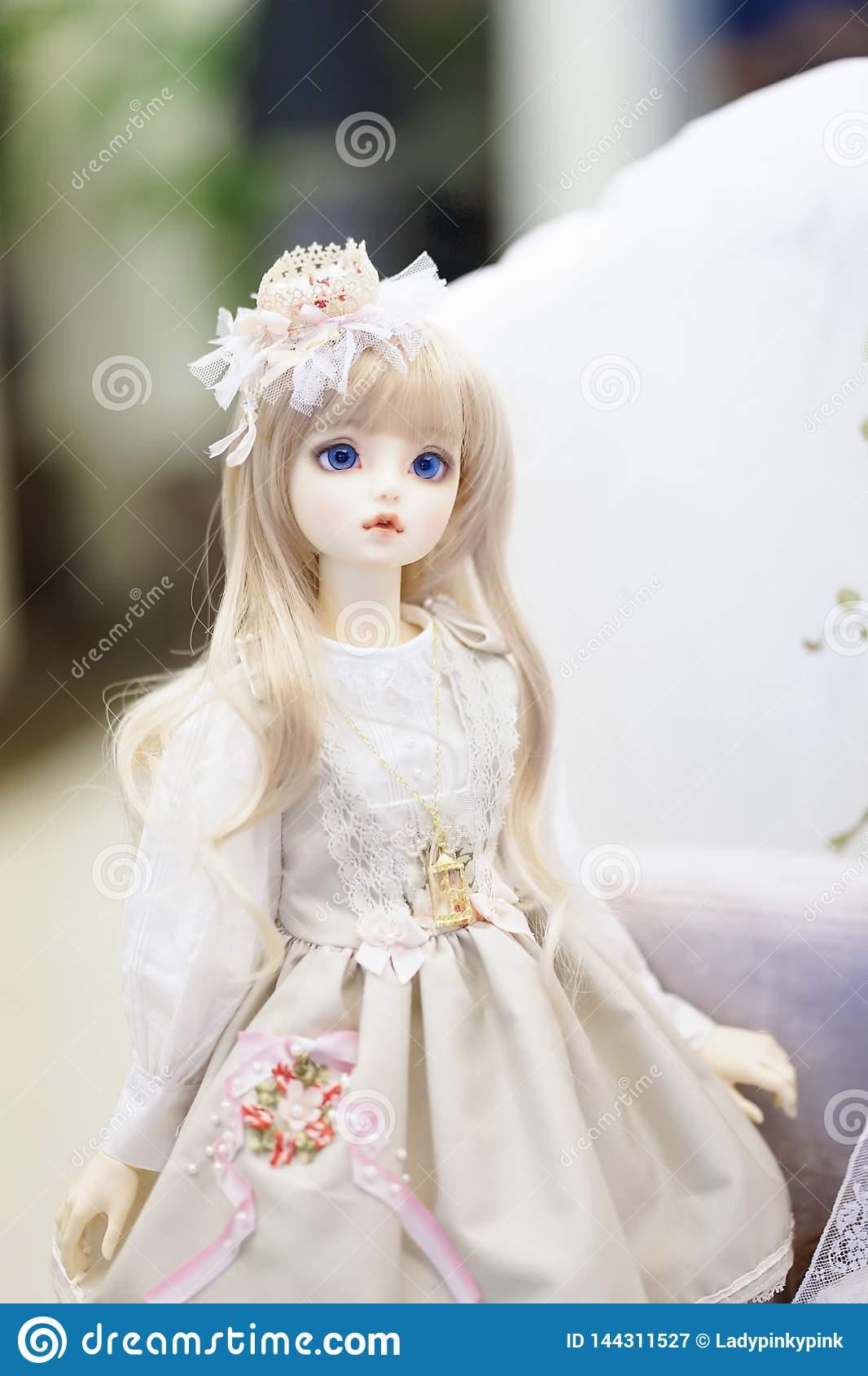 Cute BJD doll. BJD stands for Ball-Jointed+doll