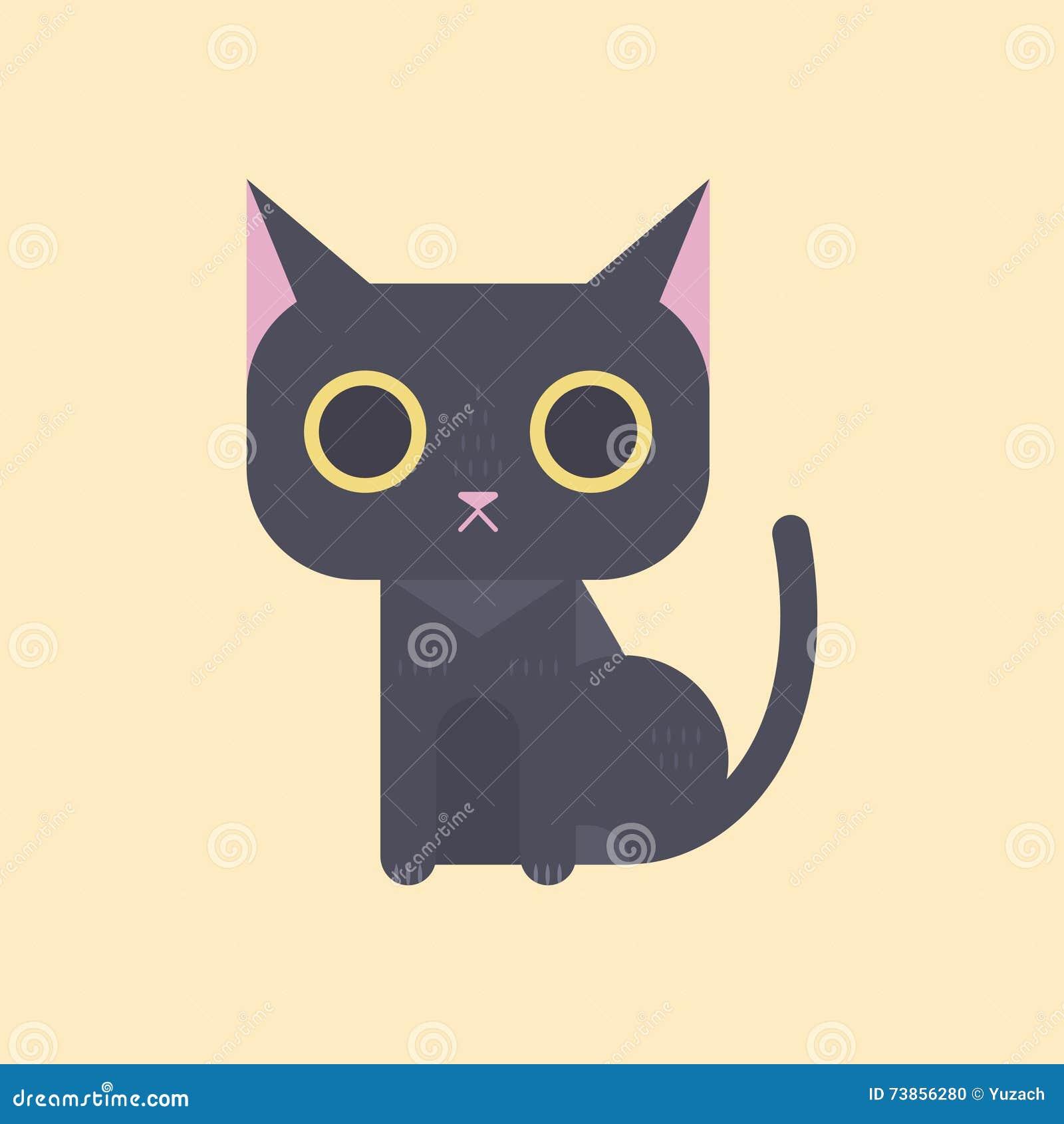 Minimal Cat Logo Cartoon Vector Cartoondealer Com 89671165