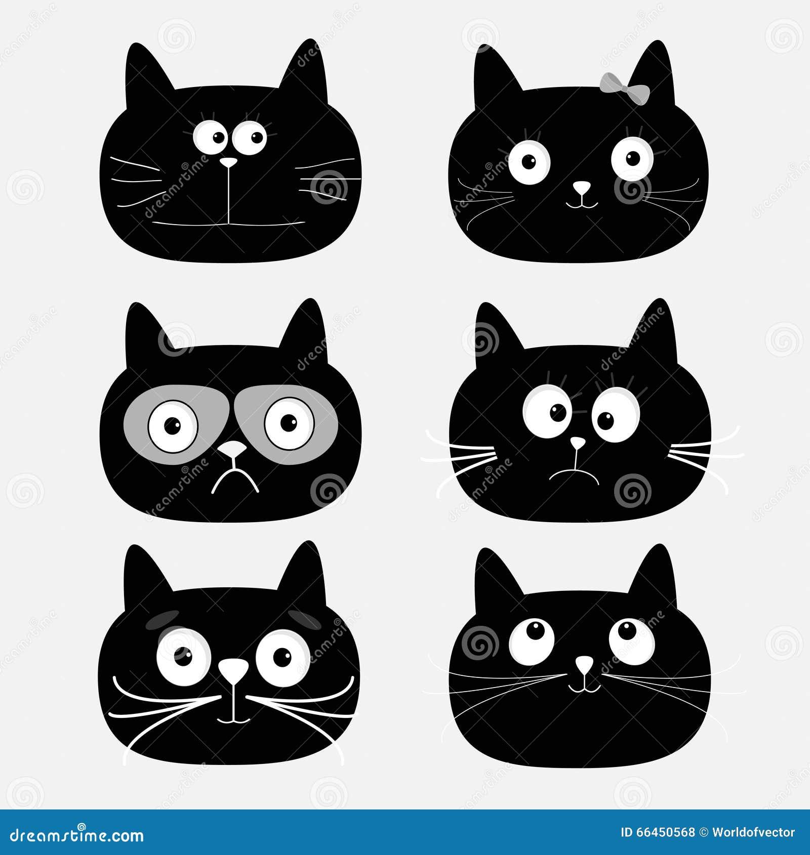 how to draw a black cat cartoon