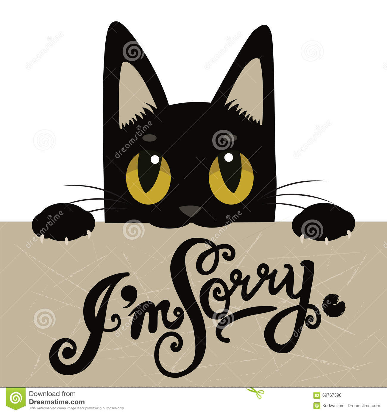 C Stock Quote: Cat Holding A Sign With The Letter C Stock Photo