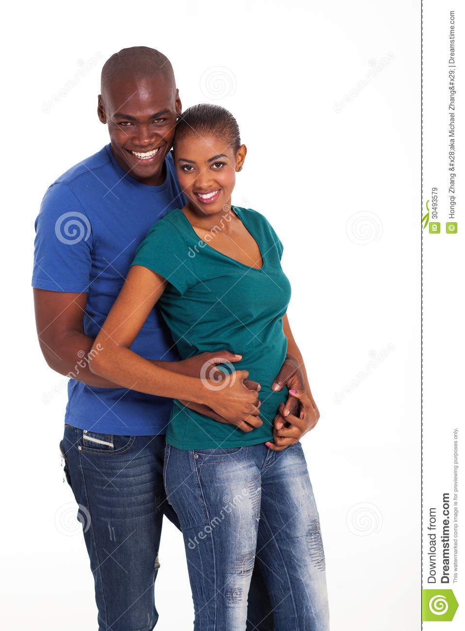 Cute black couple stock image. Image of casual, happy ...