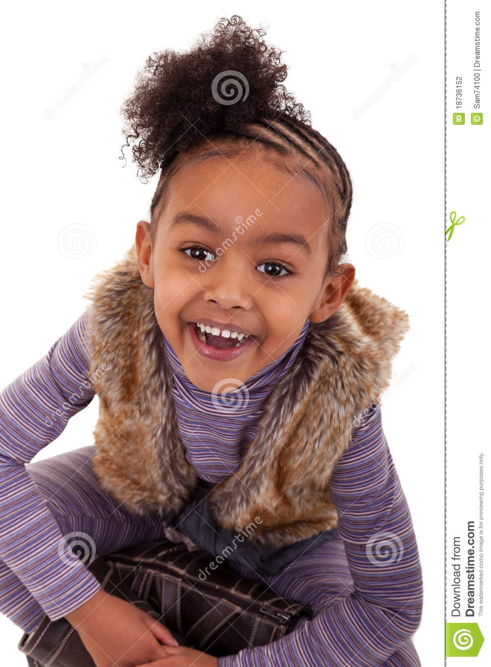 Cute Black Girl Smiling Stock Photo. Image Of Ethnic