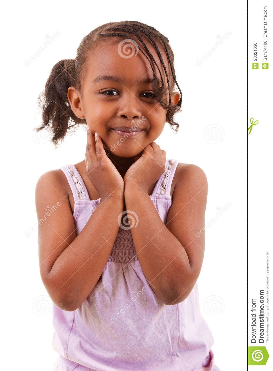Cute Black Girl Smiling Stock Photo. Image Of Infant
