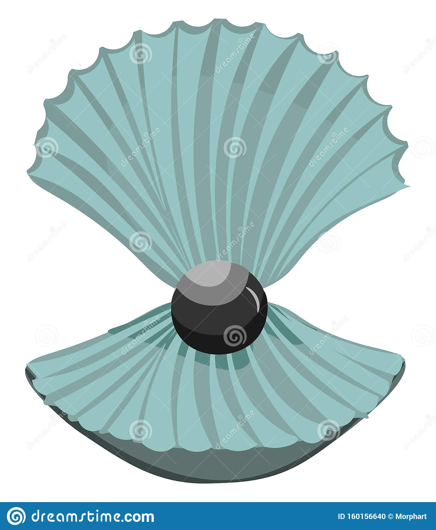 Pearl In The Shell Vector Or Color Illustration Stock ...