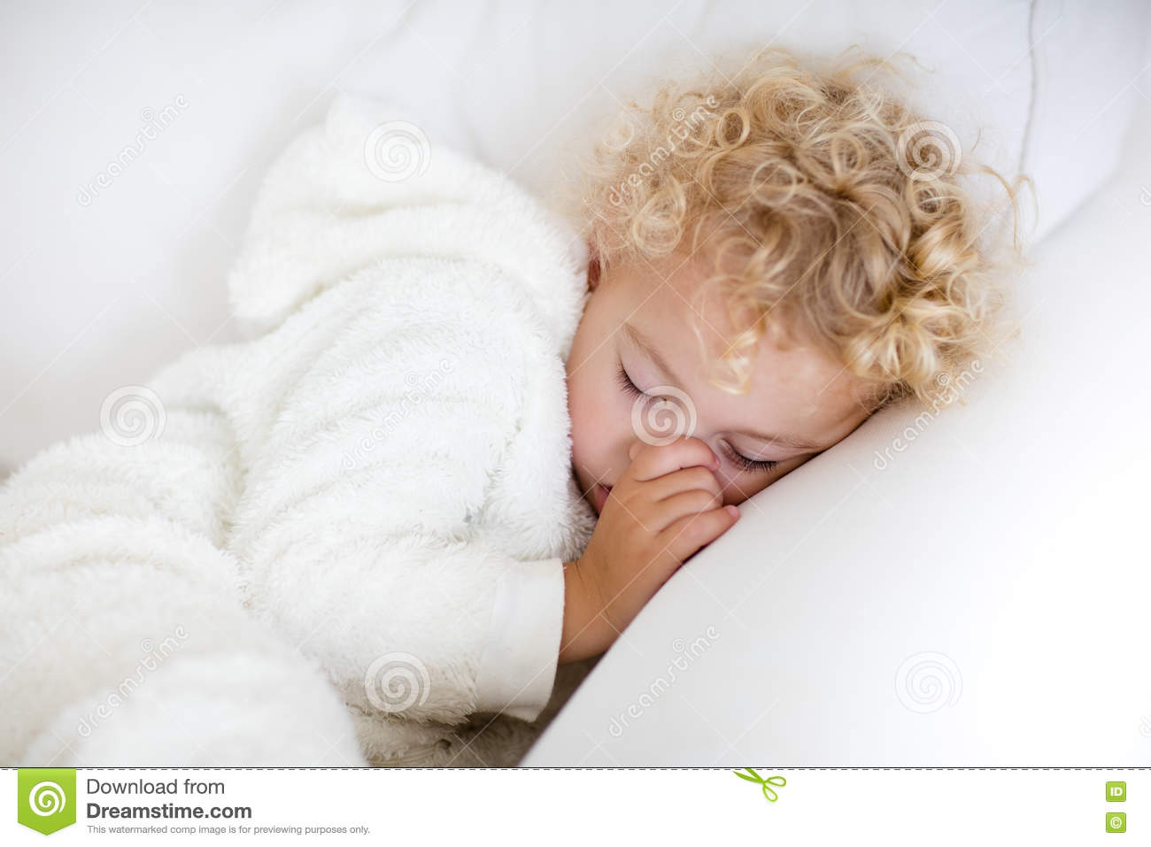 Remarkable Cute Blond Curly Little Boy Sleeping On White Couch Stock Dailytribune Chair Design For Home Dailytribuneorg