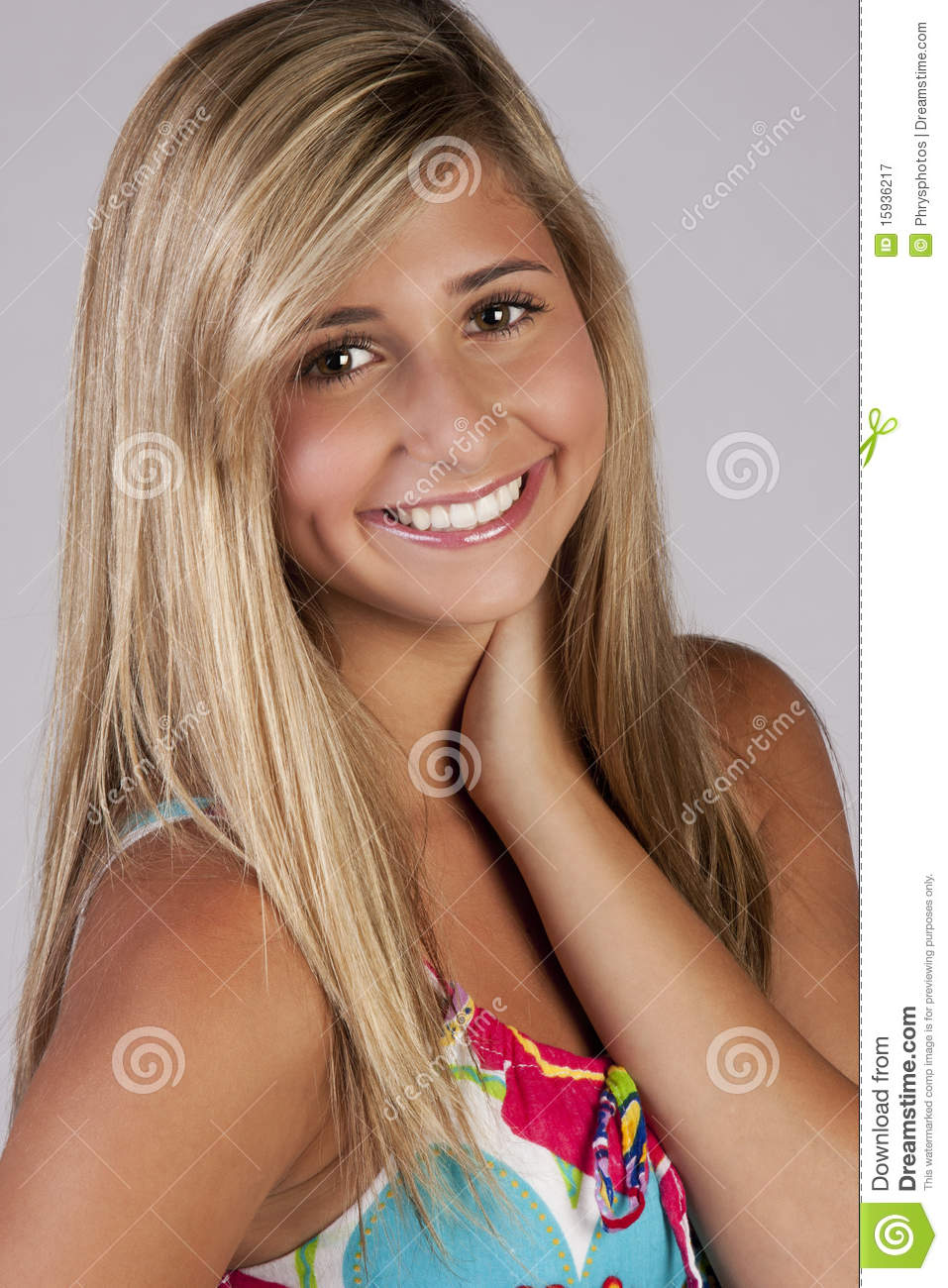 Cute blond teenage girl royalty free stock photography Cute teenage girls pics