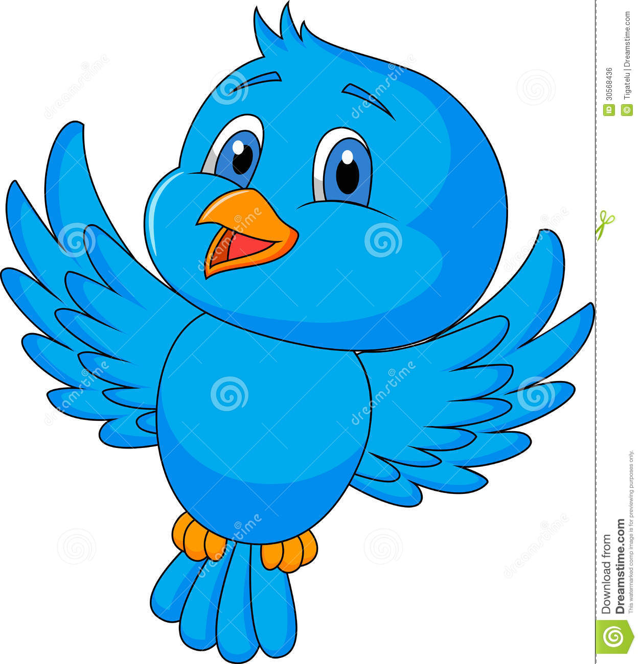 Large Blue Bird PNG Cartoon Clipart | Gallery Yopriceville ...