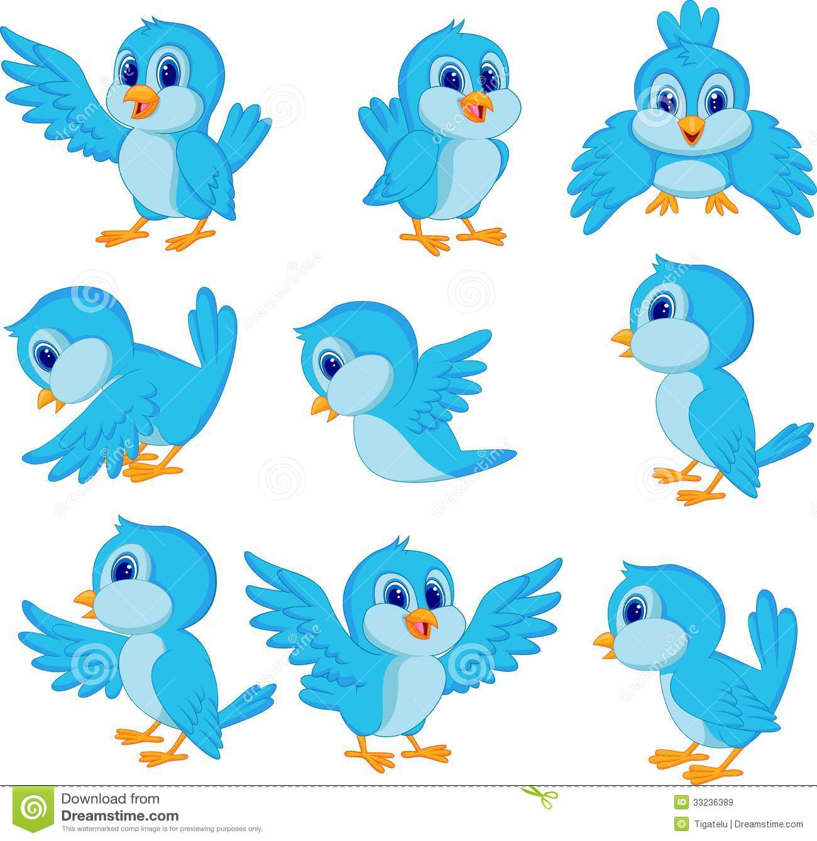 cute blue bird cartoon stock vector. illustration of funny - 33236389, Powerpoint templates