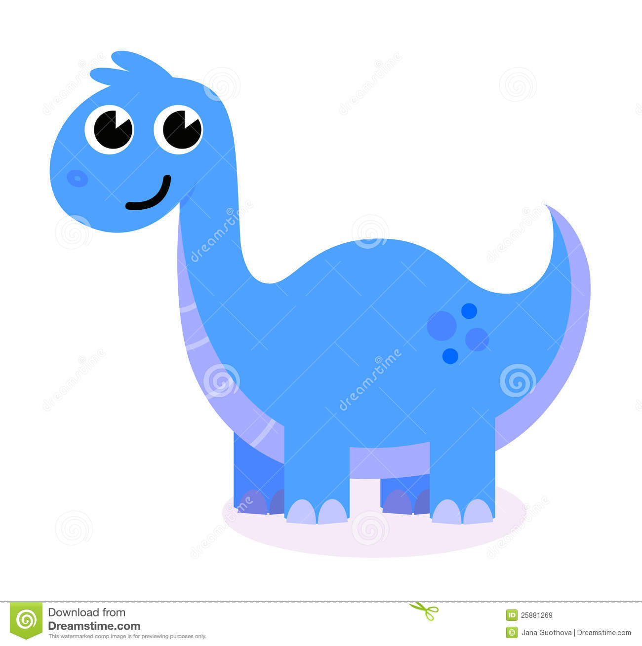 Cute Blue Dinosaur Royalty Free Stock Images - Image: 25881269