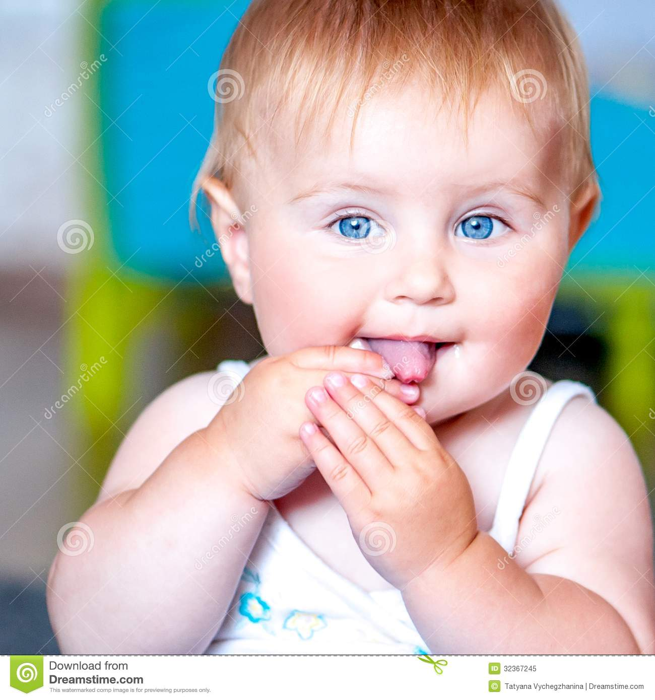 cute blue-eyed baby stock image. image of positive, caucasian - 32367245