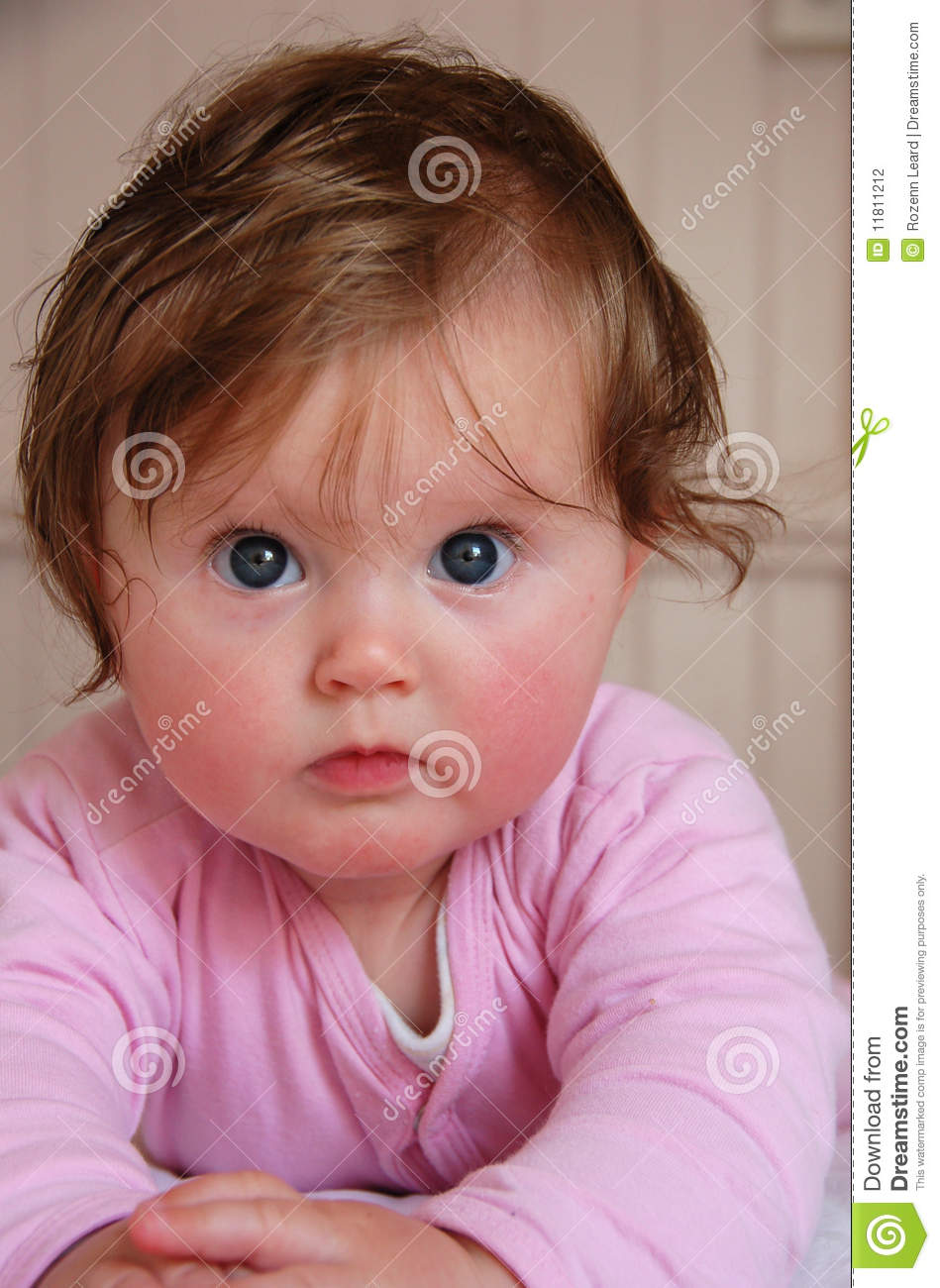 cute blue eyed baby girl stock photo. image of infant - 11811212