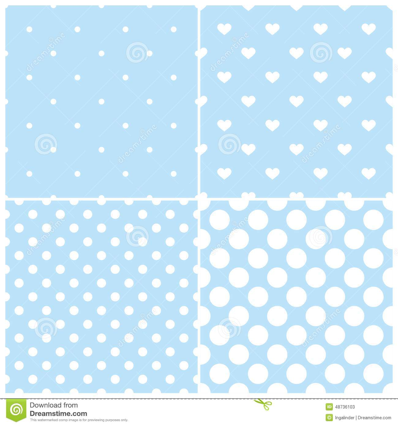 Cute Blue Pattern Wallpaper