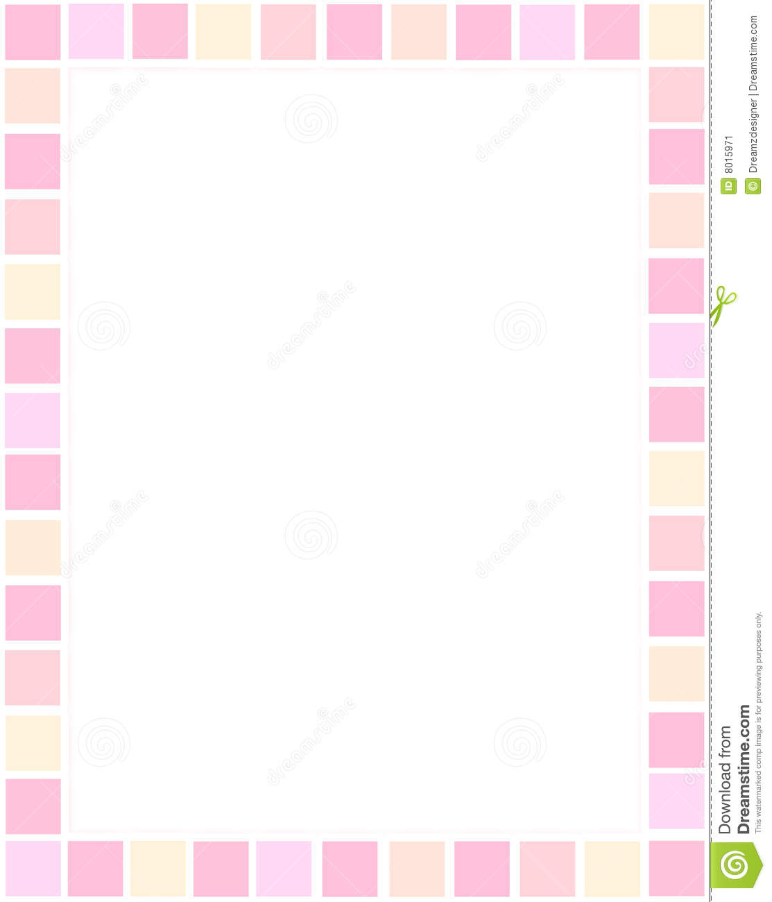 Illustration of colorful rectangle type border.