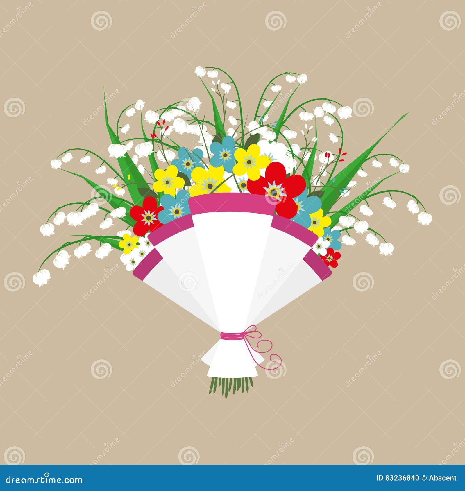 Cute bouquet of flowers stock vector illustration of flores 83236840 cute bouquet of flowers wedding bouquet flowers birthday bouquet flowers vector illustration in flat design izmirmasajfo