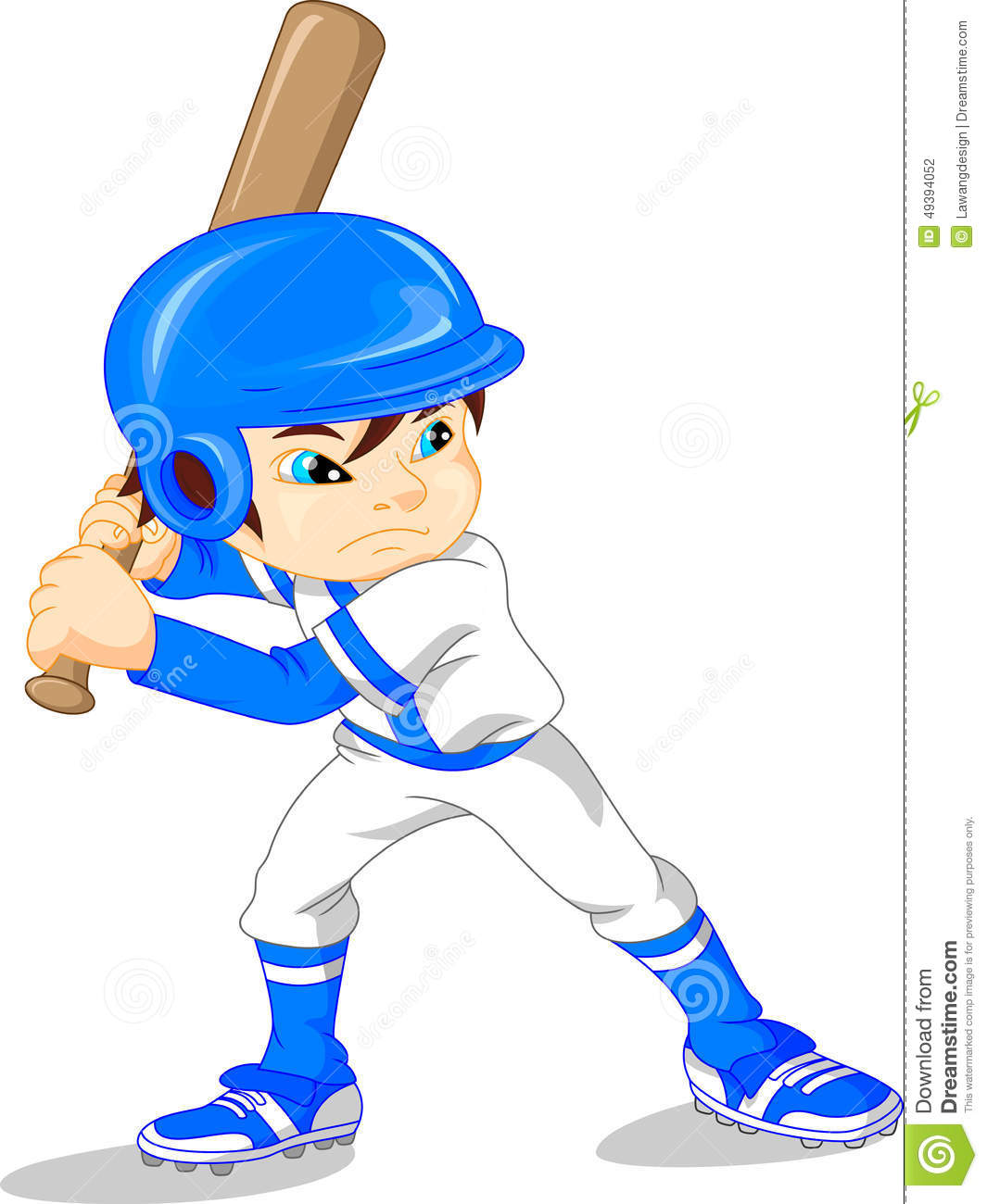 cute baseball boy vector illustration