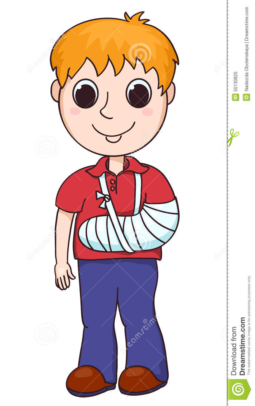 cute boy with the broken arm stock vector illustration of rh dreamstime com broken arm clipart boy with broken arm clipart