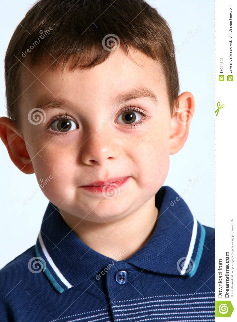 cute boy with brown hair and eyes stock photo image