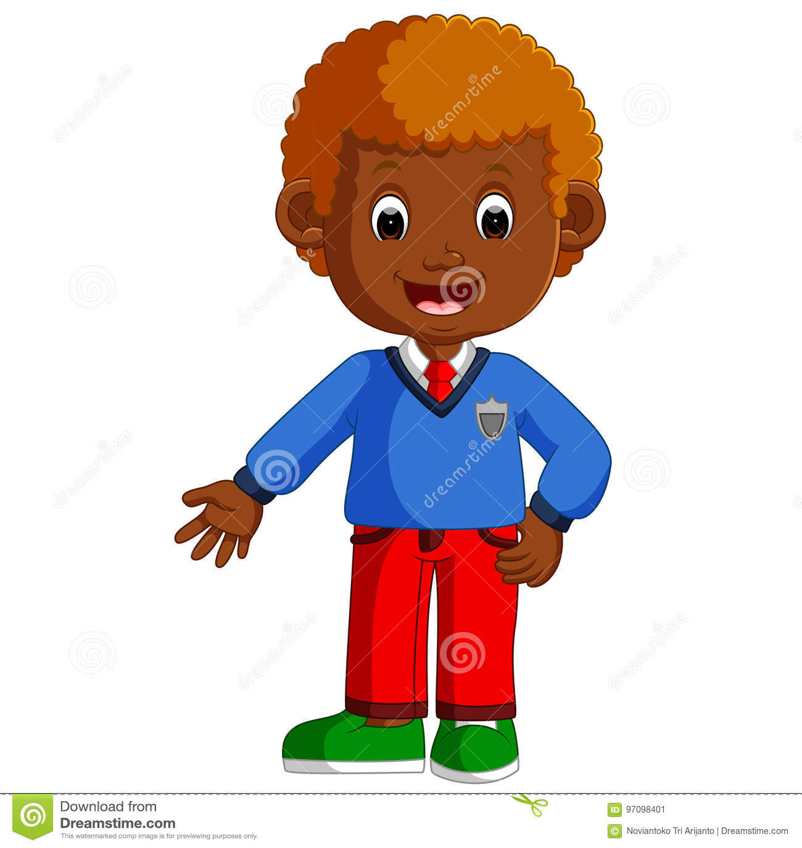 Cute Boy Cartoon Good Posing Stock Vector - Illustration ...