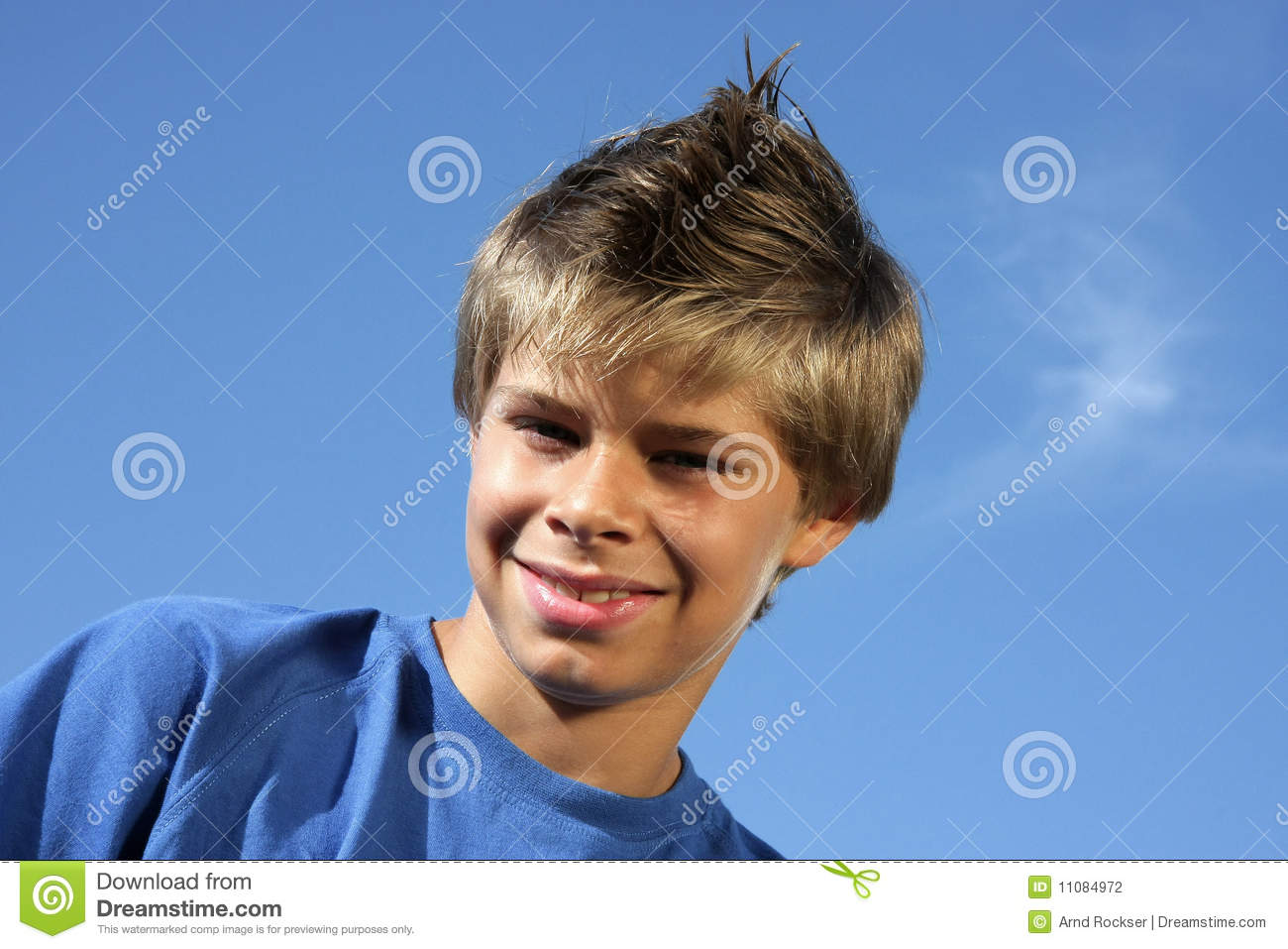 Cute Boy With Fashionable Hairstyle Stock Photo Image Of Boys