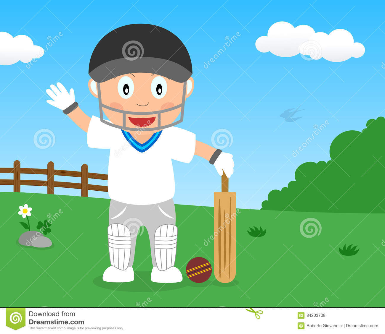 Cricket drawing for kids
