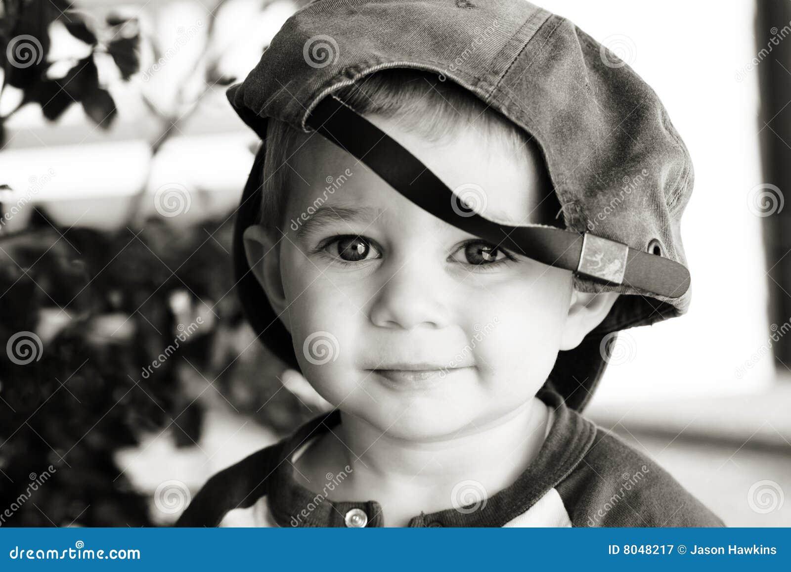 ebfb239de94 Cute Boy Wearing Baseball Hat Stock Image - Image of smiling ...