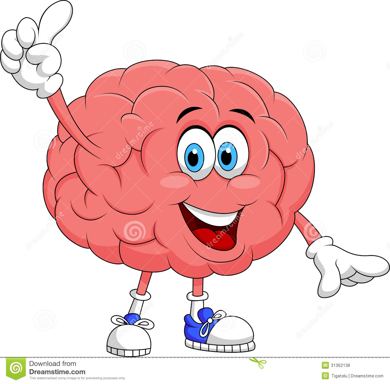Cute Brain Cartoon Character Pointing Royalty Free Stock Photos ...