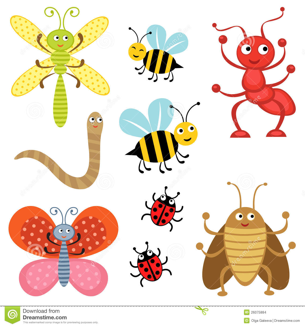 Cute insect drawing - photo#17
