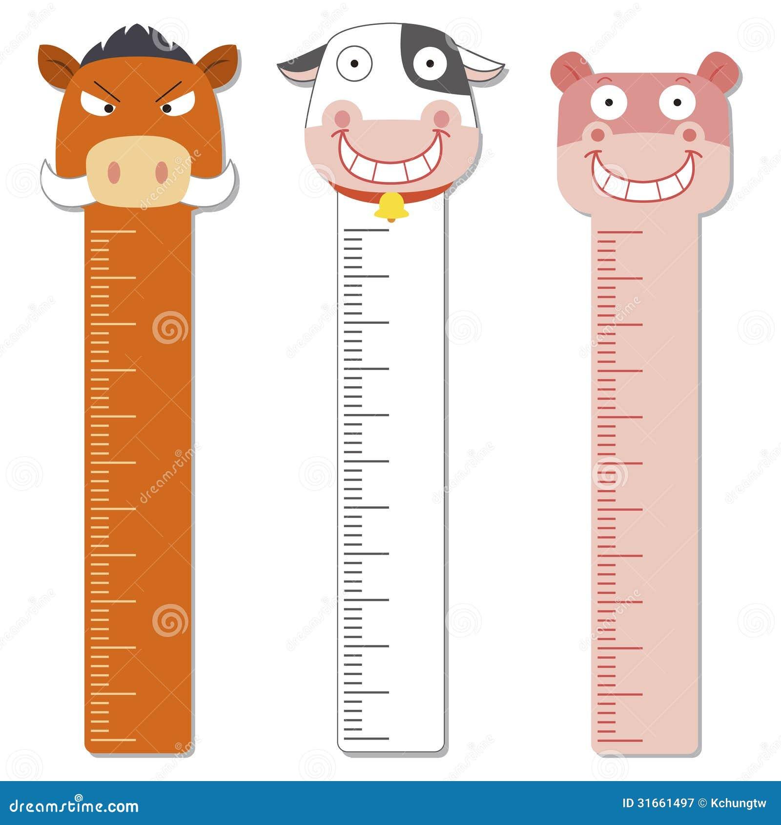 Cute Bumper Children Meter Wall. Stock Vector