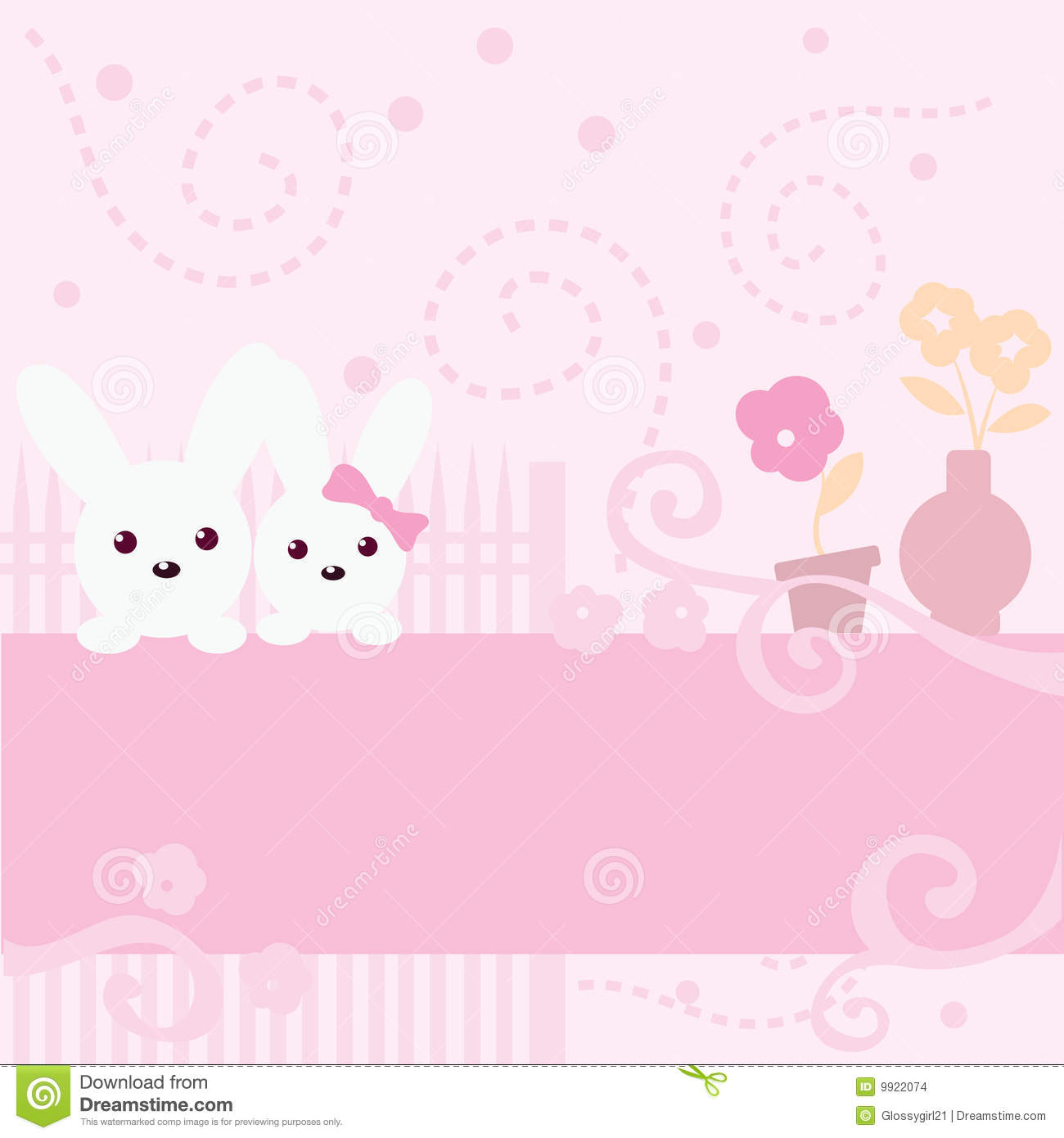 Cute Bunny Pink Background
