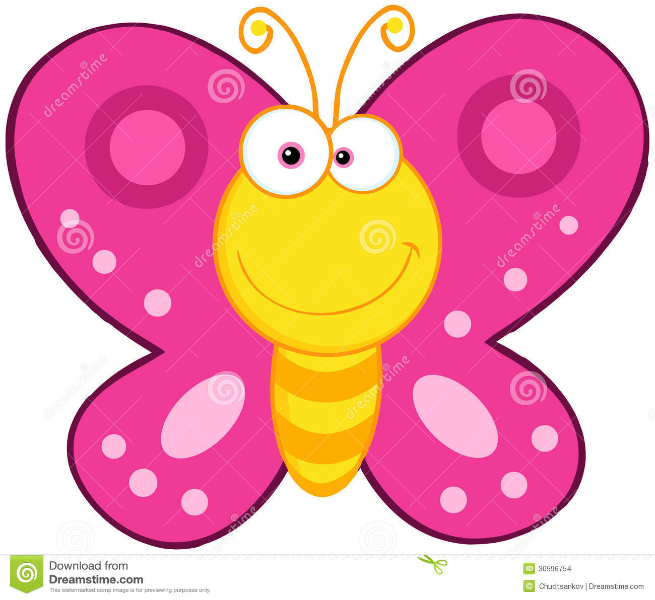 Cute Butterfly Cartoon Character Stock Images - Image: 30596754