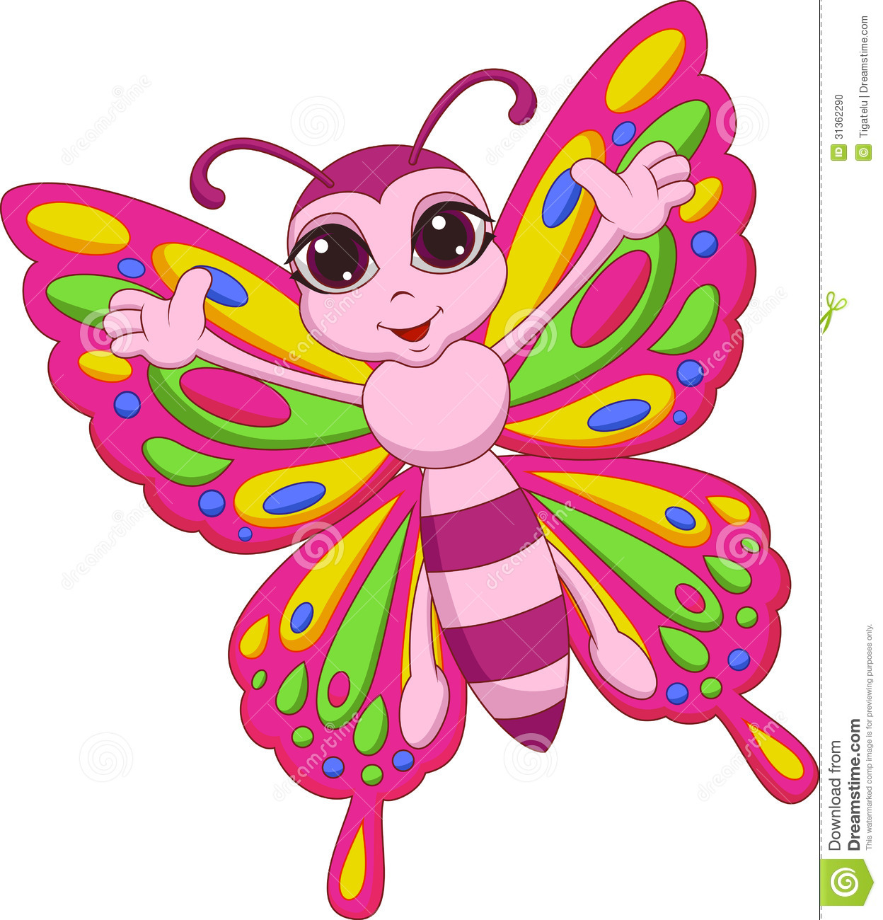 cute butterfly cartoon cartoon vector cartoondealer com 72771213
