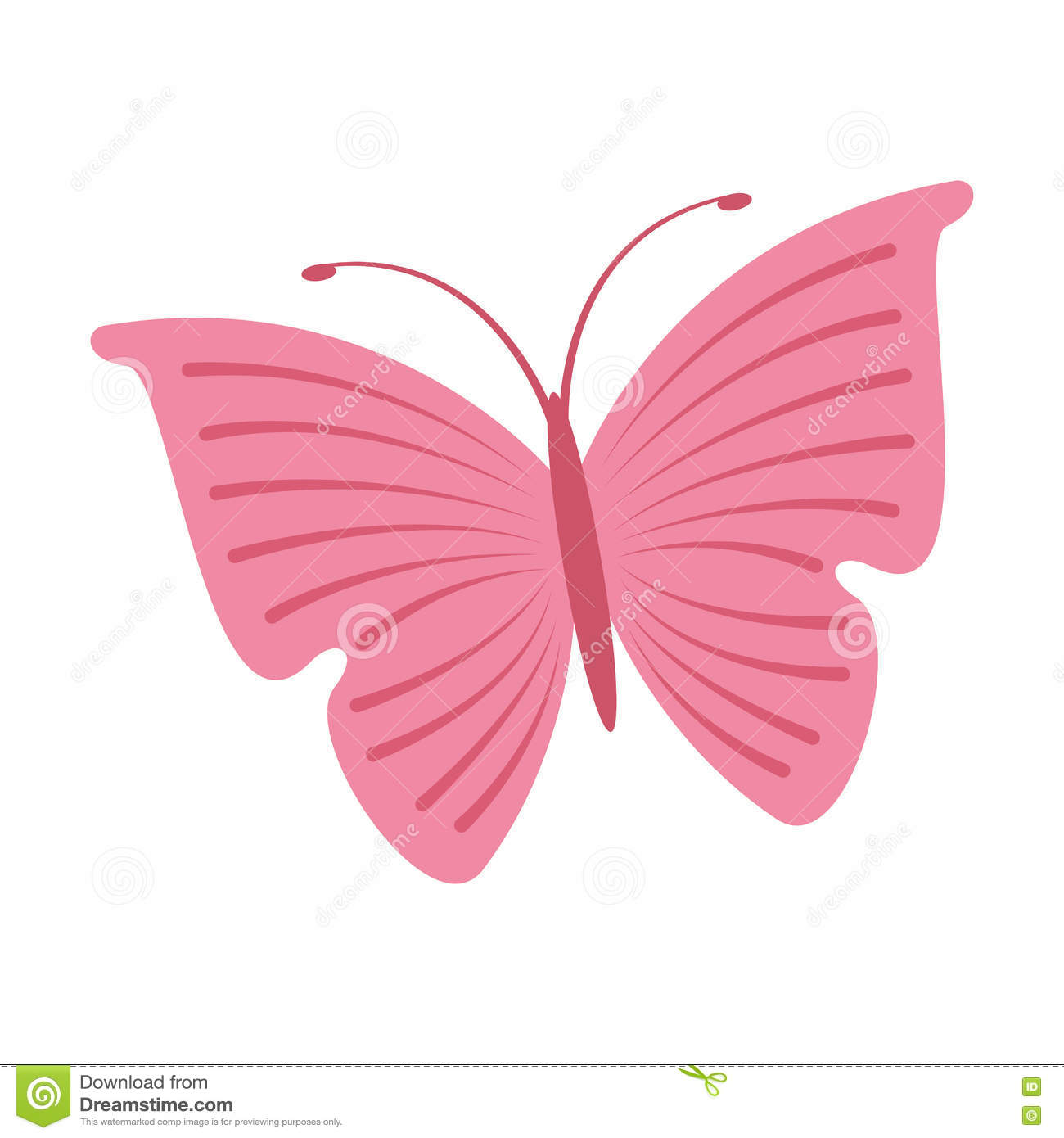 cute butterfly pink icon stock vector image of cartoon