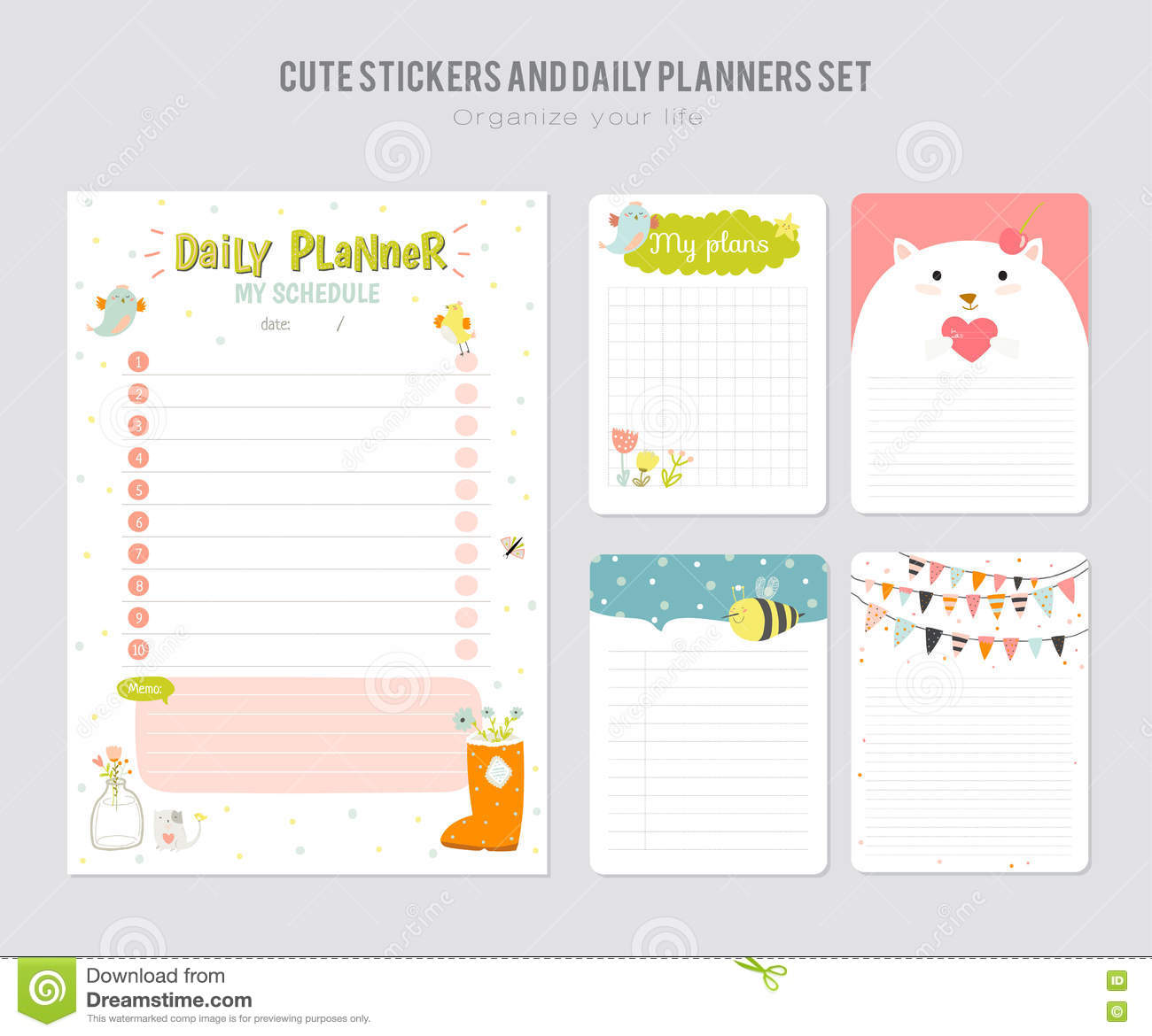 Cute daily calendar template stock vector illustration of download comp maxwellsz