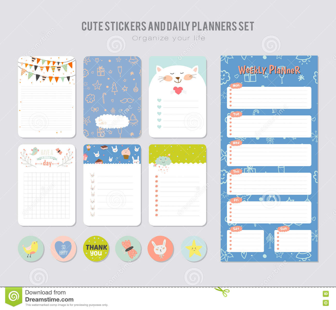 image about Kids Calendar Template called Lovable Everyday Calendar Template. Inventory Vector - Case in point of