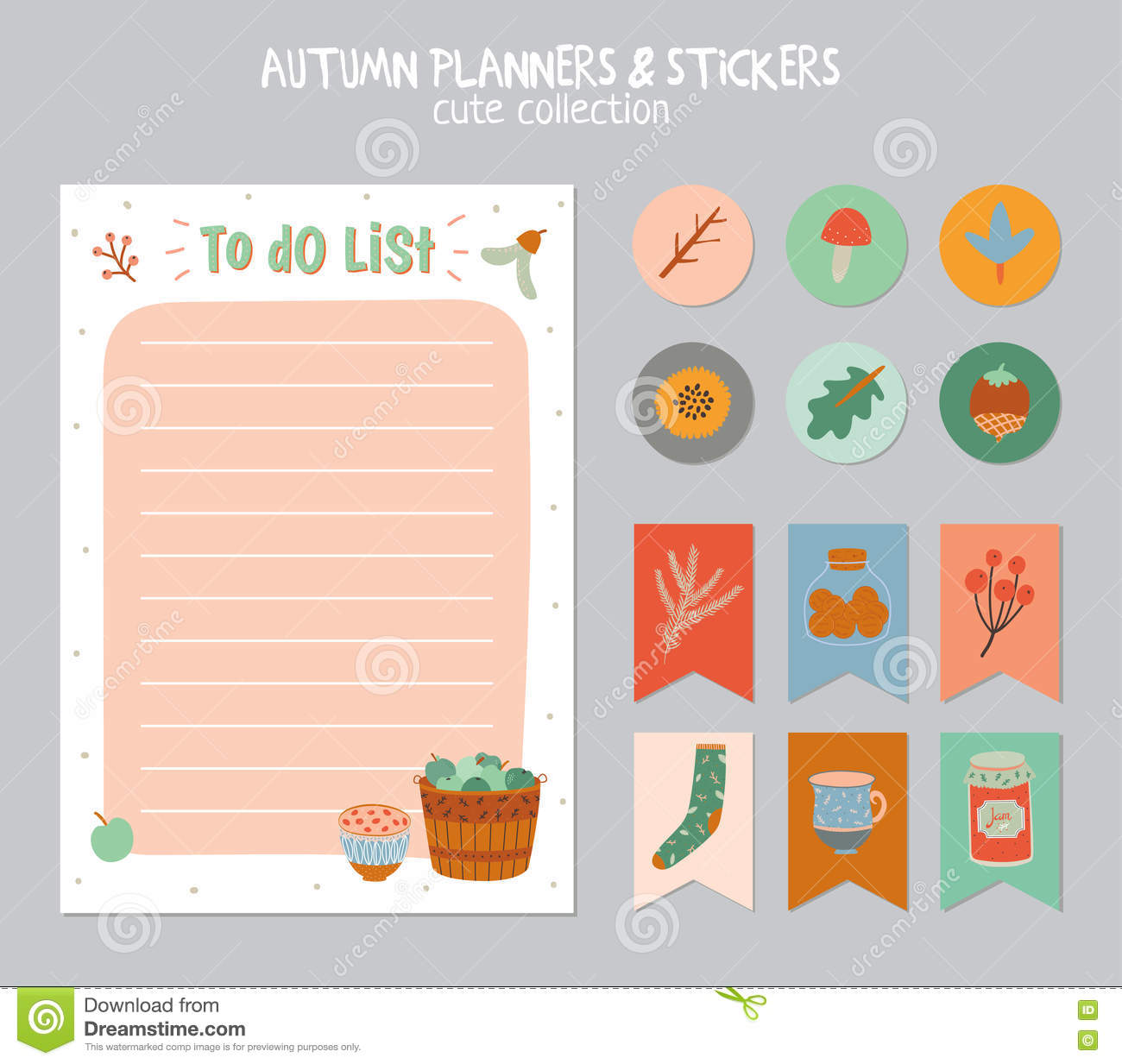 Cute Daily Calendar And To Do List Template Vector Image – To Do List Template for Kids