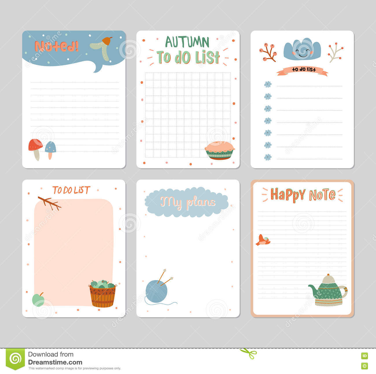 Bien-aimé Cute Daily Calendar And To Do List Template Stock Vector - Image  HX77
