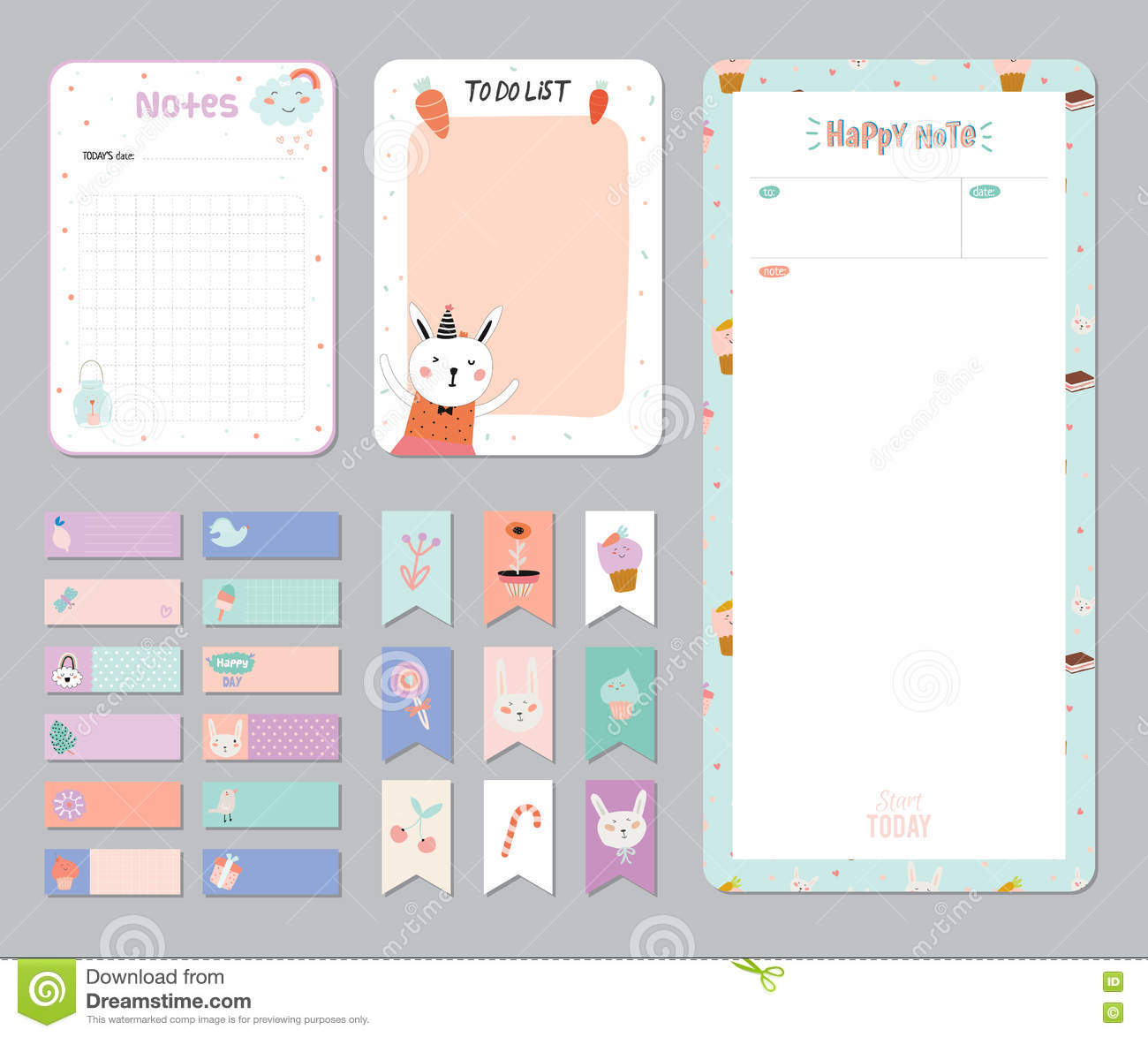 Cute Calendar Daily And Weekly Planner
