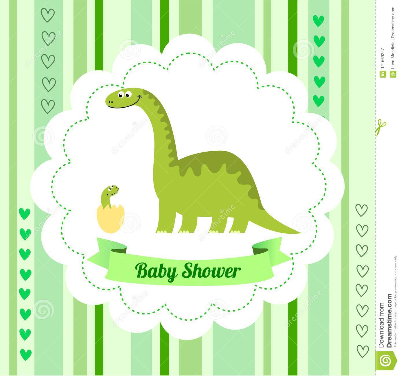 picture regarding Free Printable Dinosaur Baby Shower Invitations identified as Lovely Card Template Of A Kid Shower Invitation With A