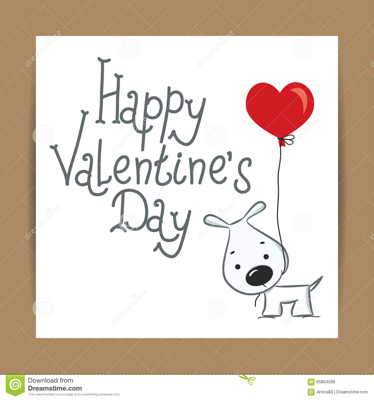 Cute Card For Valentine S Day With Funny Dog