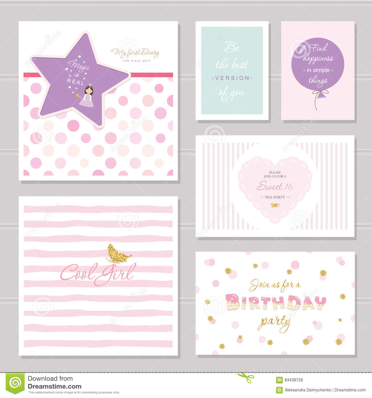 Quotes For Teenage Girls Cute Cards Design With Glitter For Teenage Girlsinspirational