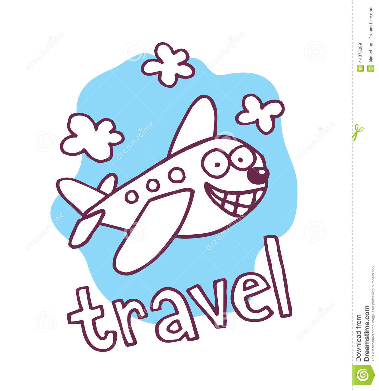 Cute Cartoon Airplane Mascot Stock Vector Illustration Of