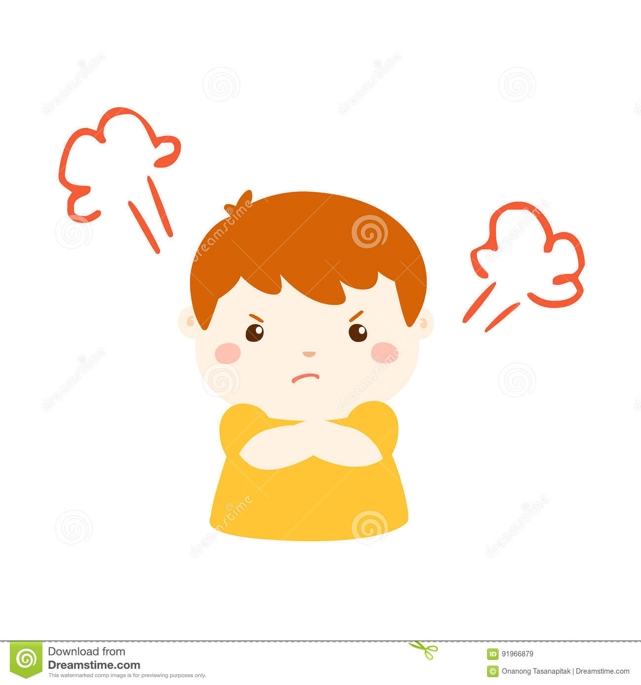 Cute Cartoon Angry Boy Character Stock Vector Illustration Of Feeling Irate 91966879