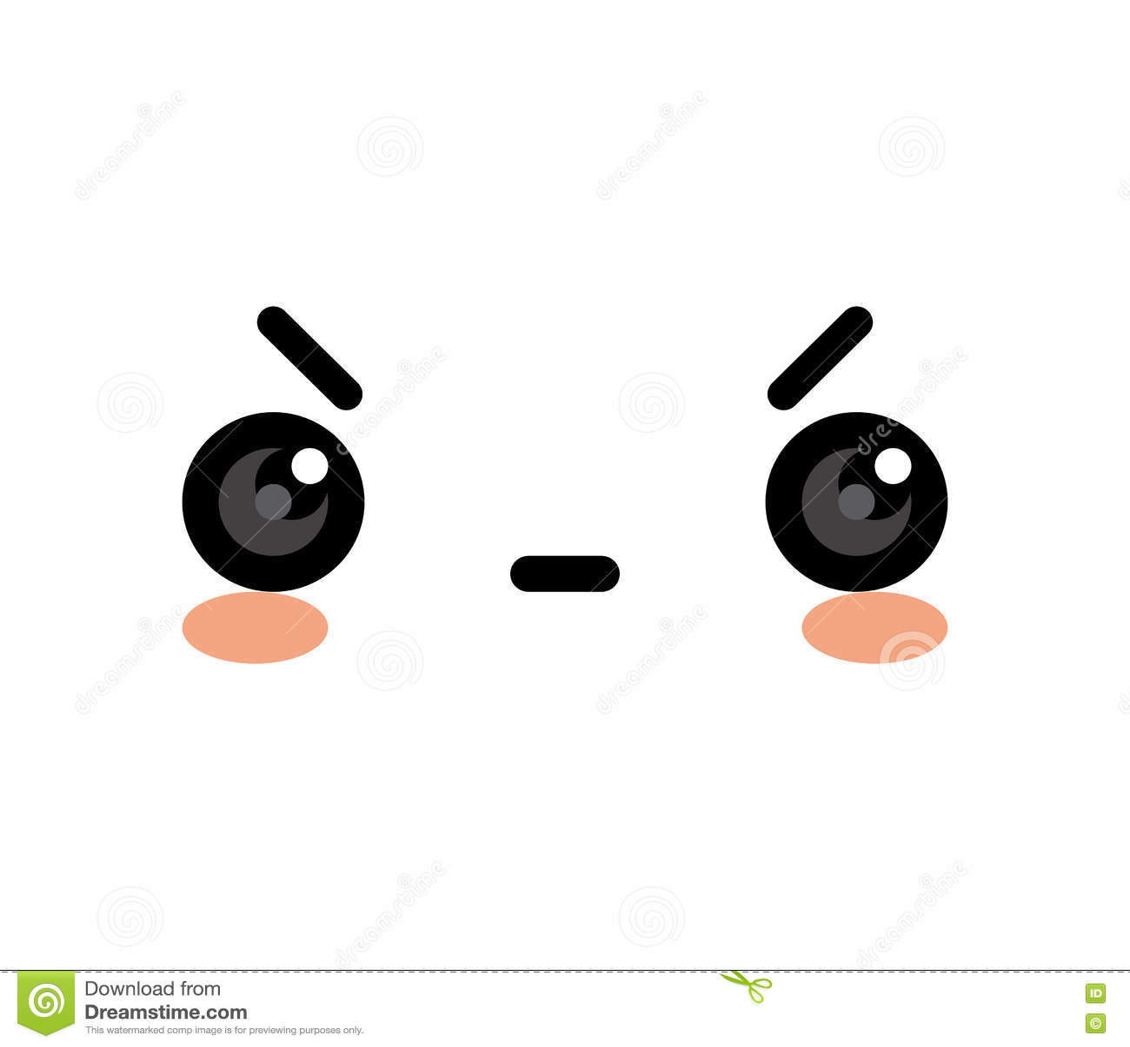 Cute Mad Face Cartoon cute cartoon angry face isolated stock ...