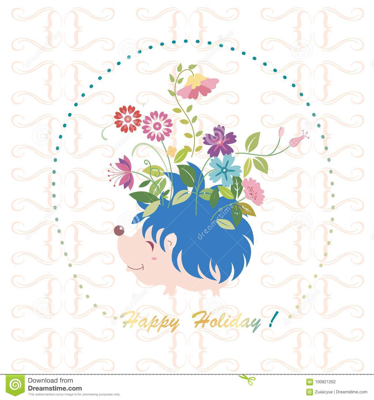 Cute Holiday Greeting Cards Stock Vector Illustration Of Animal
