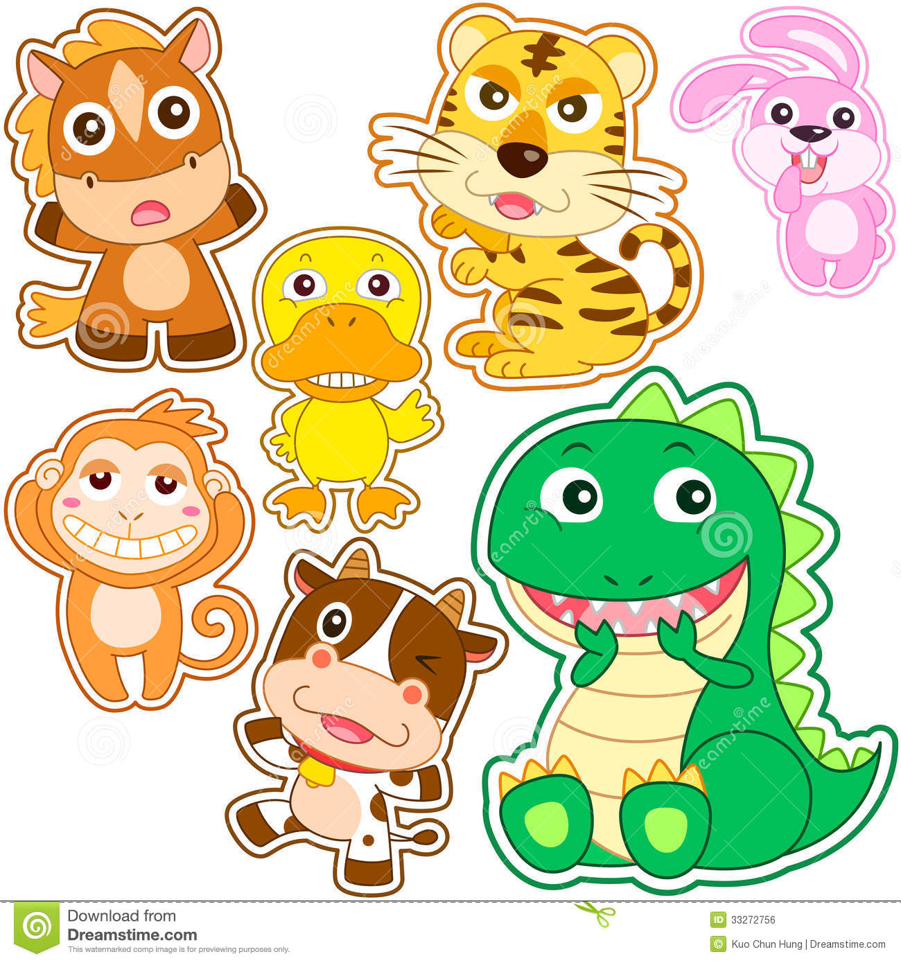 Cute cartoon animal set stock vector image of duck collection cute cartoon animal set voltagebd Gallery
