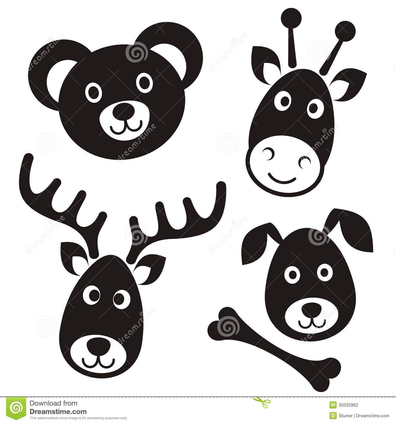 Black And White Baby S Toy Dog Clipart