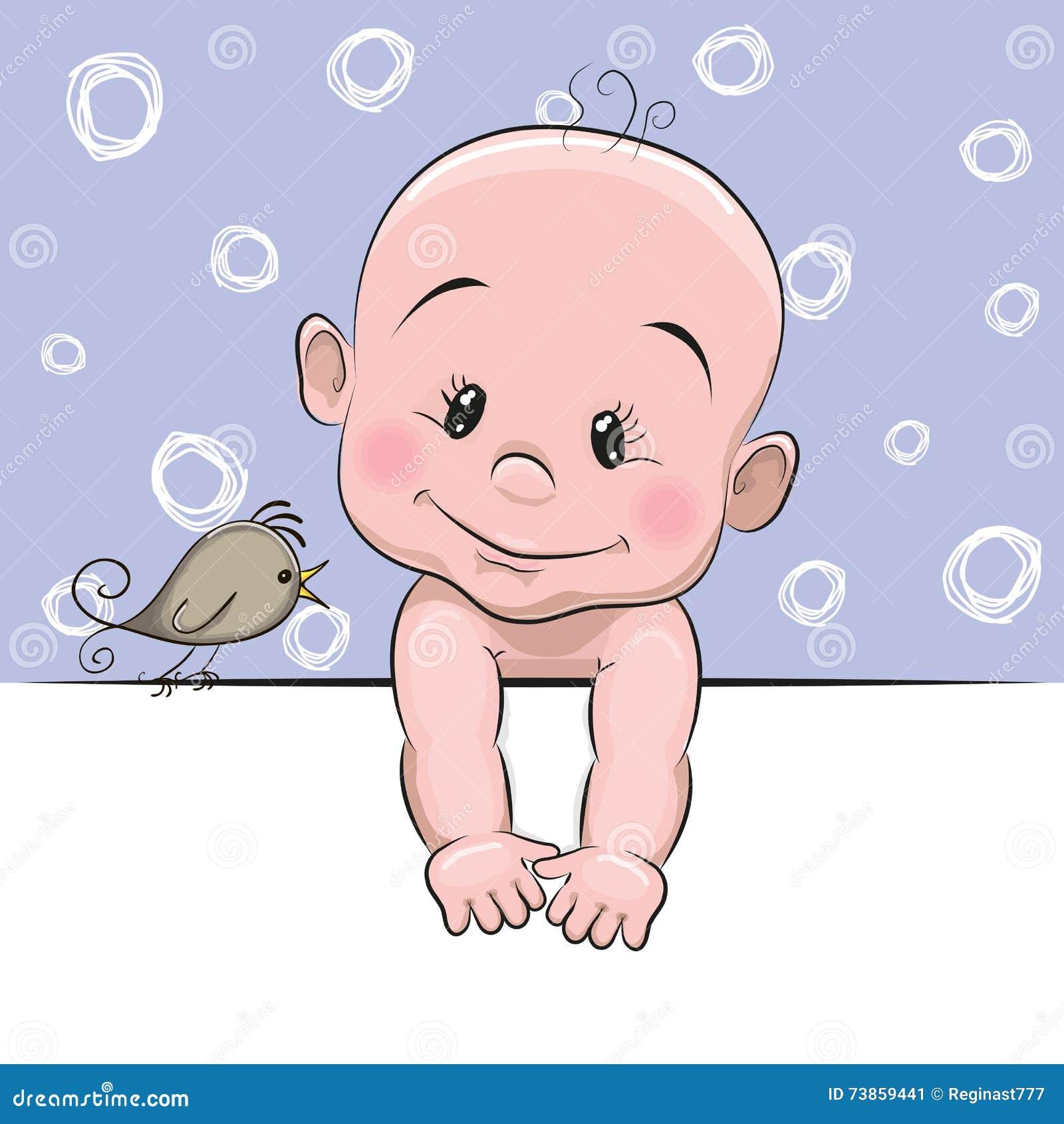 Cute baby cartoon birds - photo#14